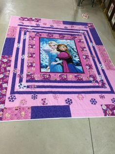 Frozen Quilt//frozen blanket//frozen bedding by Frozen Bedding, Frozen Quilt, Frozen Bedroom, Quilting Projects, Quilting Designs, Sewing Projects, Quilting Ideas, Baby Girl Quilts, Girls Quilts