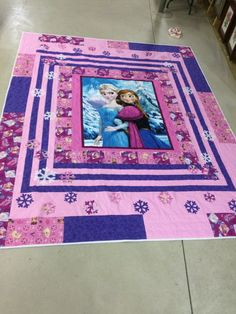 Frozen Quilt//frozen blanket//frozen bedding by LittleBugDesigns17