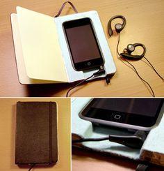 Moleskin iPod case.  Clever.