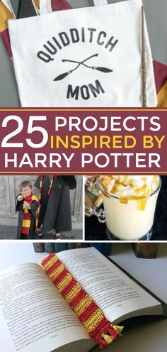 If you are a Potterhead (Harry Potter fan), then this post has plenty of inspiration for you!  I'm sharing 25 of my favorite Harry Potter Recipes and Harry Potter Crafts.