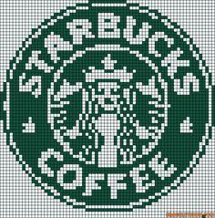 Starbucks logo perler bead pattern & Must remember this for someone Perler Bead Designs, Diy Perler Beads, Perler Bead Art, Cross Stitch Charts, Cross Stitch Patterns, Cross Stitching, Cross Stitch Embroidery, Starbucks Logo, Starbucks Coffee