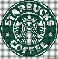 Starbucks logo perler bead pattern