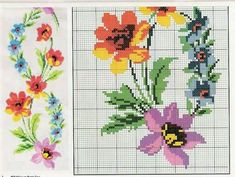 This Pin was discovered by ayş Cross Stitch Art, Cross Stitch Flowers, Cross Stitching, Cross Stitch Embroidery, Cross Stitch Patterns, Embroidery Patterns Free, Machine Embroidery, Bargello, Needlework