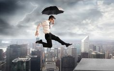 Under the storm. Businessman jumping on a skyscraper under a storm , Advertising Services, Surrealism Photography, Yoga Quotes, Wallpaper Pictures, Life Is An Adventure, City Buildings, Photo Effects, Yoga Inspiration, Picture Photo