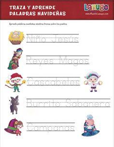 Free printable spelling worksheet para Navidad y Día de Reyes via @MundoLanugo