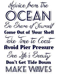 Ocean Navy Blue Quote Sign #nautical #ocean