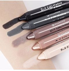 Essence Brand Eye Shadow Pencils #EyeshadowPencils #Beautyonabudget #Beautyinthebag