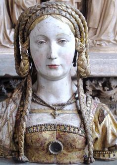 "bonecastles: ""Reliquary bust, Medieval French (12th Century) Cloisters, NYC """