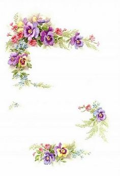 "This might be pretty as a tag for the table favours. I could print ""thank you for coming"" in the blank spots. Decoupage Vintage, Vintage Diy, Vintage Images, Art Floral, Floral Design, Diy And Crafts, Paper Crafts, Printable Pictures, Borders And Frames"