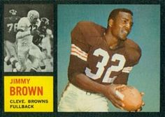 topps football cards     jim brown | 1962 Topps Football Cards Checklist, Set Info, Key Cards, Analysis