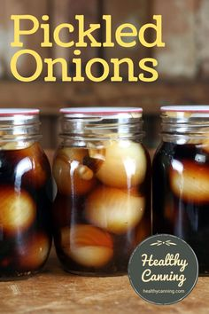 English Pickled Onions. These are good old-fashioned, blow your head off, English pickled onions in malt vinegar. Brits who have tried these onions say the onions transport them right back to their grandmother's pickled onions. #canning