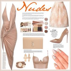 Nudes by lizz-med on Polyvore featuring polyvore, moda, style, Miss Selfridge, Christian Louboutin, Yves Saint Laurent, Saachi, New Directions, Bobbi Brown Cosmetics and Elegant Touch