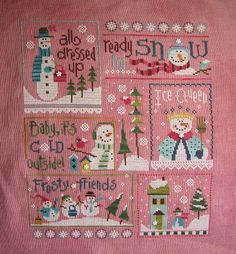 Can anyone identify this darling pattern? Oh, please!!   I must make this!!  6+Snow+Belles+finished.jpg (480×518)