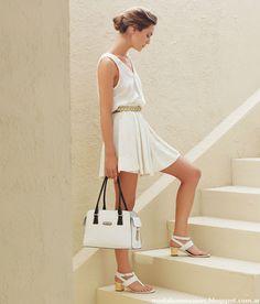 PRIMAVERA VERANO 2013 BLAQUE Cold Shoulder Dress, White Dress, Outfits, Clothes, Dresses, Campaign, Google, Summer, Ideas