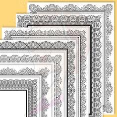 8x11 Certificate Border Frames Clip Art by MayPLDigitalArt on Etsy, $6.50