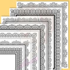 8x11 Certificate Border Frames Clip Art by MayPLDigitalArt on Etsy, $6.50
