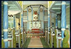 The inside of Rauland Kirke in Vinje, Telemark. Isn't it beautiful? I wish we could've gone inside ourselves to see this in 1999 when Doug & I were there.