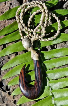 5e430f7a4801f Cocobolo Fish Hook Necklace Hand carved by OneMountainCreations, $85.00