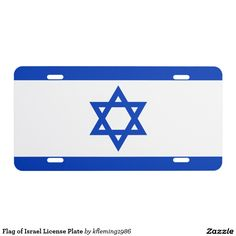 Flag of Israel License Plate