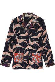 ValentinoPrinted silk crepe de chine blouse