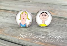 Custom kids artwork cuff links, children's artwork cufflinks, children's drawings, silver plated cufflinks, gift for Dad, Grandpa, Godfather by NowThatsPersonal on Etsy