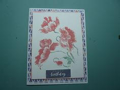 Penny Black Stamp 'Blowing Poppies' Penny Black, I Card, Poppies, Happy Birthday, Stamp, Handmade, Art, Happy Aniversary, Happy B Day