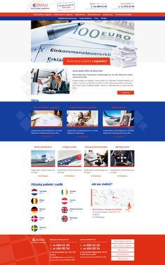 Czimad   Menu strona www, website, template, biuro podróży, travel agency Drupal, Lorem Ipsum, Photoshop, Website
