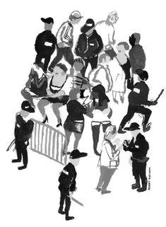 journal CQFD - benoit guillaume illustration