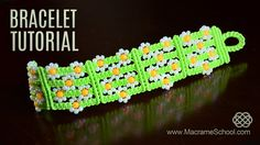 Easy Macramé Flower Bracelet TUTORIAL ✿  #EasyBracelet #Macrame #Tutorial #SummerJewelry #Flowers #Jewelry #Daisies #Beadwork #Knot #Bracelet #Craft