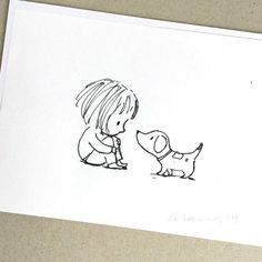 The graphite and ink illustration measures 11 x 15 cm. This one off artwork is presented in a clear sleeve with a board backing. Please note that there is a light crease across the corner of this artwork. Doodle Drawings, Art Drawings Sketches, Cartoon Drawings, Doodle Art, Animal Drawings, Cute Drawings, I Love You Drawings, Family Drawing, Baby Drawing