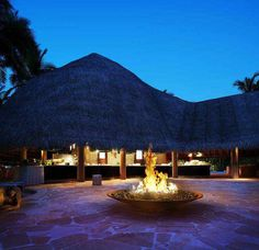 Awesome Maldives Restaurant with Stone Floor and Chic Places Round The Campfire bungalow beach design