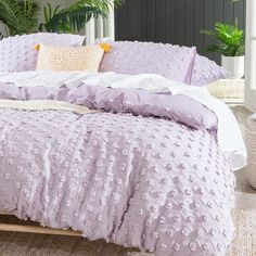 Eve Lilac Quilt Cover Set | Pillow Talk