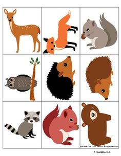 Forest Animals, Woodland Animals, Toddler Activities, Preschool Activities, Forest Theme, Thematic Units, Autumn Crafts, Animal Projects, Math Worksheets