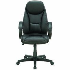 LexMod Trendsetter High Back Ergonomic Executive Office Chair in Black Vinyl