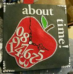 Teacher graduation cap decoration.