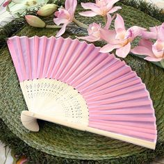 Asian Silk Hand Fans by Beau-coup (beau-coup.com)  Come in white silk.