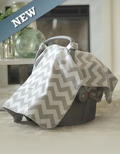 The Chevy Print: This pattern is great for a girl or a boy! #babies #carseatcanopy