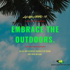 Embrace the outdoor... #jamaicalandwelove #jamaicanice #coronavirusjamaica One With Nature, Our Love, Jamaica, Relax, Movie Posters, Life, Outdoor, Outdoors, Negril Jamaica