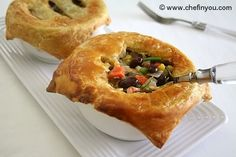 Vegetarian Pot Pie - much healthier than the frozen ones I used to eat!