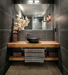 Drewniany blat do łazienki