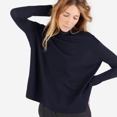 The Luxe Wool Square Turtleneck - Everlane