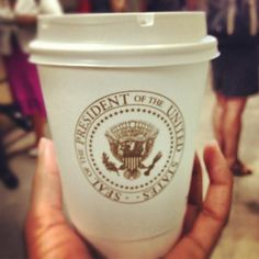 Nothing like a cup of Presidential coffee to start #AmeriCorps Alums Day at #TheWhiteHouse!