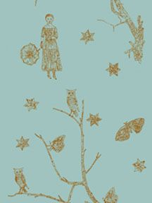 Studio Printworks Kiki Smith wallpaper  Maiden & Moonflower  color dawn