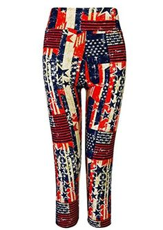 Capri Yoga Pants for Women  Girls Soft Cotton Cropped Leggings LXL RWBlue *** You can find more details by visiting the image link.