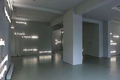 neon installation by joseph kosuth references james joyce's finnegans wake