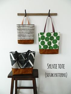 s.o.t.a.k handmade: sylvie tote {new pdf pattern in three sizes}