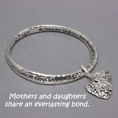 Silver Mother & Daughters Share an Everlasting Bond Bracelet with Dangling Heart Charm Hail Mary Gifts, http://www.amazon.com/dp/B0058V4DPY/ref=cm_sw_r_pi_dp_aF.Sqb1YHYW10