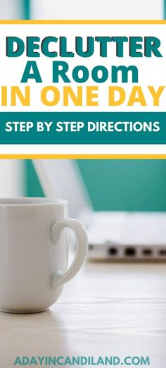 How to declutter a room in one day with step by step directions. Learn how to tackle a room at a time with these easy tasks to get organized.