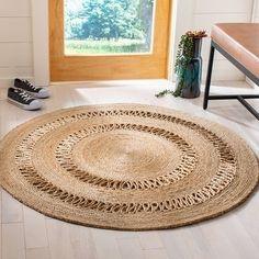 Natural Fiber Rugs, Natural Area Rugs, Jute Carpet, Diy Carpet, Rope Rug, Rug Shapes, Indoor Rugs, Rug Making, Colorful Rugs