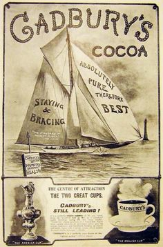 Cadbury's Cocoa Advertisement, published in The Graphic, poster Vintage Labels, Vintage Ephemera, Vintage Cards, Vintage Signs, Vintage Postcards, Retro Poster, Poster Ads, Old Advertisements, Advertising Signs
